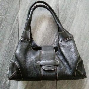 Ann Taylor Black Leather Shoulder/Handbag